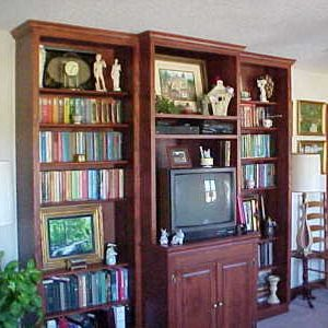 Entertainment Center with Bookshelves