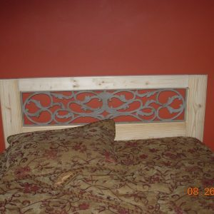 Wood & Iron Headboard