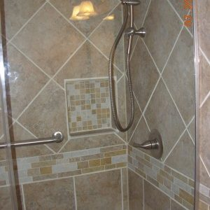 Tiled and Glass Shower