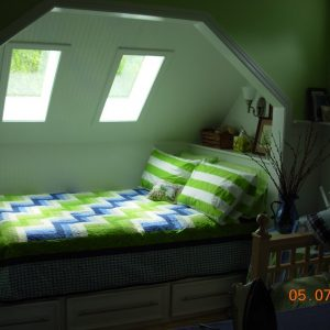 Attic Remodel for a Day Bed