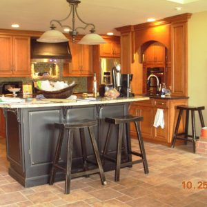 Remodeled Kitchen with Contrasting Island