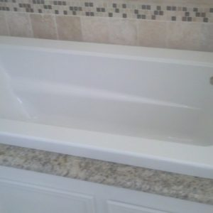 New Tub with Custom Surround