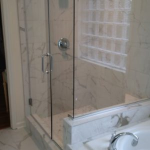 Glass and Marble Shower