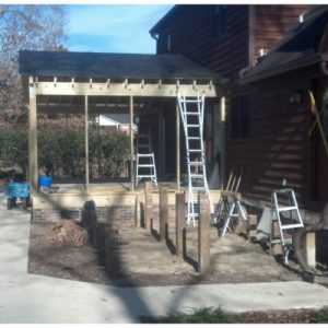 Screen Porch and Deck Before, During, and After